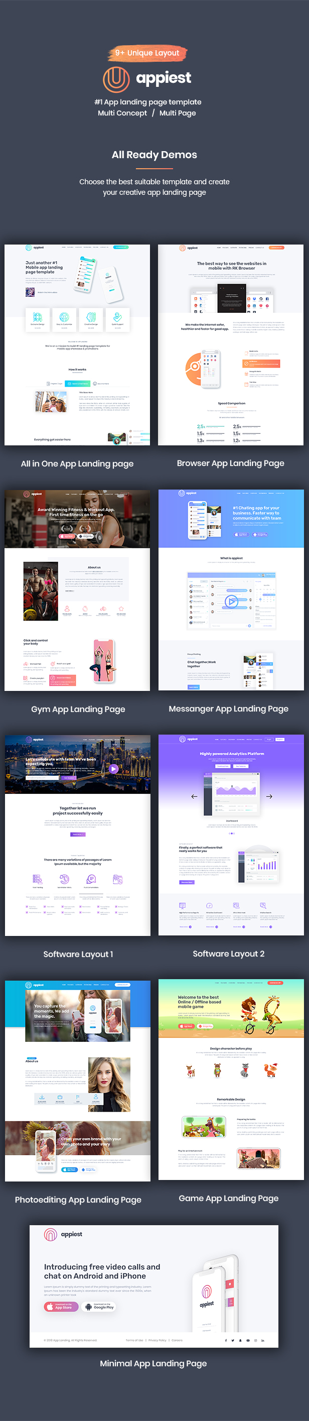Appiest - MultiConcept App Landing Page HTML - 1